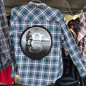 Garth Brooks Upcycled flannel shirt large